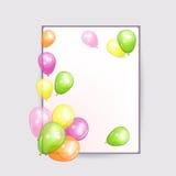Предпосылки праздника с красочными воздушными шарами Стоковое Изображение RF