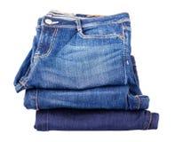 精密背景的蓝色牛仔裤 库存图片