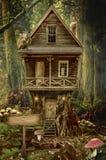 Σπίτι νεράιδων (κολόβωμα) Στοκ εικόνες με δικαίωμα ελεύθερης χρήσης
