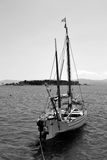 黑白小船 库存照片