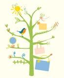 Милая карточка дерева с рамками текста для детей Стоковые Фотографии RF