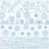 Μπλε γραμμή εμβλημάτων φαντασίας Στοκ Εικόνες
