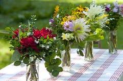 Букет сада с георгином Стоковые Фото