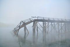 桥梁废墟 图库摄影