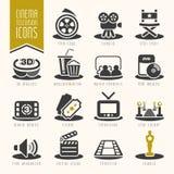 电影和戏院产业象集合 库存图片