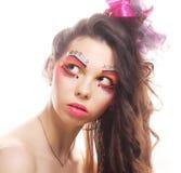 Красивейшая повелительница с художническим составом Стоковое фото RF
