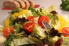 新鲜的凉拌生菜蔬菜 免版税库存图片