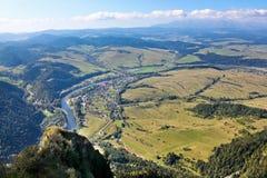 从三个冠山的顶端观看 免版税库存图片