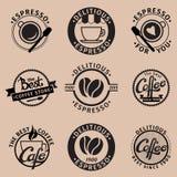 белизна изолированная кофе установленная Стоковое фото RF