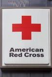 交叉查出的红色符号白色 免版税图库摄影