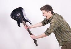 有吉他的人 库存图片