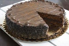 全部蛋糕的巧克力 库存图片