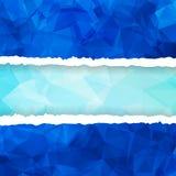 Голубая триангулярная полигональная сорванная бумага Стоковое фото RF