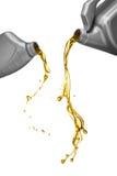 机器润滑油倾吐 免版税库存图片