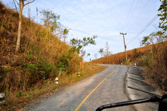Путь дороги кривой Стоковые Фотографии RF