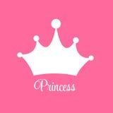 Υπόβαθρο πριγκηπισσών με το διάνυσμα κορωνών Στοκ εικόνες με δικαίωμα ελεύθερης χρήσης