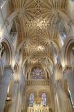 教会内部,基督教会,牛津,英国 库存照片