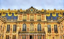 凡尔赛宫的门面 免版税库存图片
