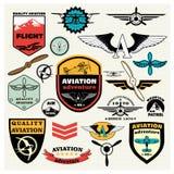 Мега комплект авиации темы Стоковые Изображения