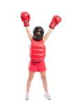 Маленькая девушка боксера Стоковые Изображения RF