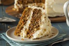 Υγιές σπιτικό κέικ καρότων Στοκ φωτογραφία με δικαίωμα ελεύθερης χρήσης