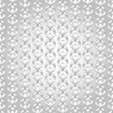 Ασημένιο άνευ ραφής αφηρημένο σχέδιο αλυσίδων Στοκ Εικόνα