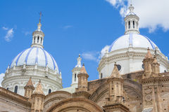 昆卡省,厄瓜多尔新的大教堂的圆顶  免版税库存图片
