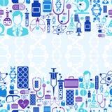 医疗和医疗保健无缝的样式 库存图片