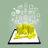 成功-在网上买卖 免版税图库摄影