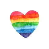 абстрактный вектор радуги иллюстрации сердца предпосылки Стоковые Фотографии RF