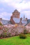 哥特式教会用法语布里坦尼 免版税库存图片