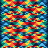 几何部族抽象无缝的样式的阿兹台克人 库存图片