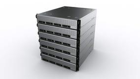 多个机架服务器 免版税库存图片