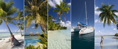 豪华假期-南太平洋海岛 免版税库存图片
