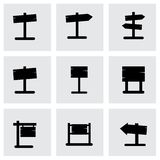 Древесина вектора старая поет комплект значка Стоковая Фотография RF