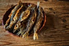 鱼油煎了 免版税图库摄影