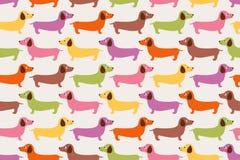 Άνευ ραφής σχέδιο σκυλιών κινούμενων σχεδίων Στοκ εικόνα με δικαίωμα ελεύθερης χρήσης