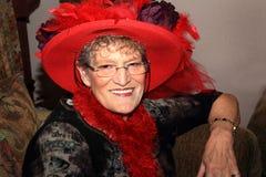 红色帽子夫人 免版税图库摄影