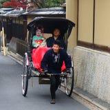 运输在京都在日本 免版税图库摄影