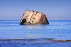 凹下去的船 库存照片
