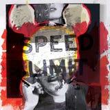 现代海报艺术设计时尚样式;拼贴画图表传染媒介 图库摄影