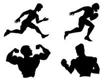 比赛图标多数普遍的集体育运动向量 免版税库存图片