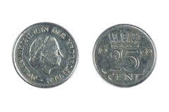 硬币荷兰 库存照片