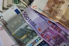 το ευρώ δολαρίων διαφορών σημειώνει το σύμβολο Στοκ εικόνα με δικαίωμα ελεύθερης χρήσης