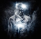 Человек с искусством тела Стоковая Фотография RF