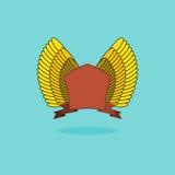 Ασπίδα με τα φτερά Τρύγος Στοκ Φωτογραφία