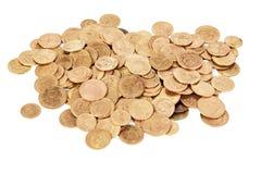 在白色隔绝的苏联老硬币 免版税库存图片