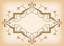 Орнамент вектора барочный в викторианском стиле Стоковое Фото