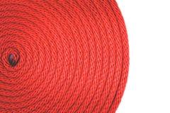 红色绳索纹理  免版税图库摄影