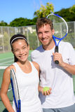 网球体育-混双夫妇球员 免版税库存照片